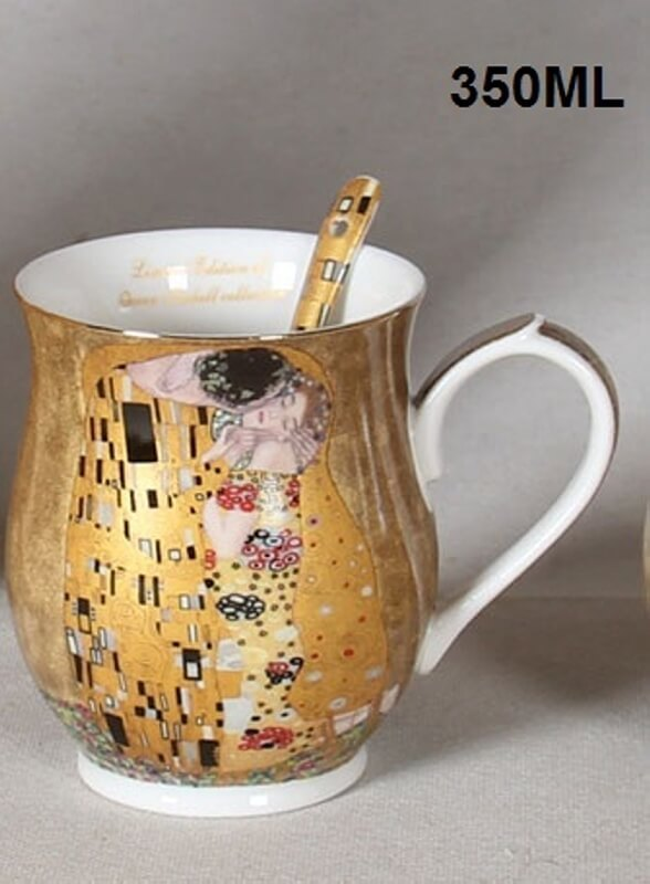 Set 2 ks hrnků 350 ml Gustav Klimt The Kiss, Queen Isabell, 24189