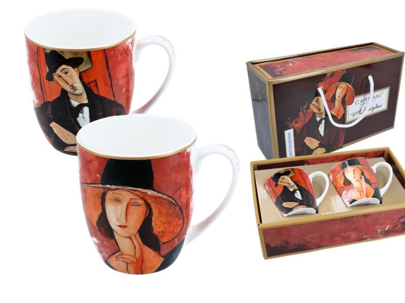 Hrnek 450 ml set 2 ks, Amedeo Modigliani, CARMANI