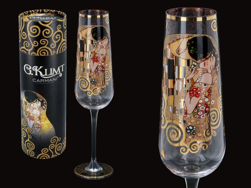 Skleněný kalich 220 ml Gustav  Klimt The Kiss, CARMANI 8413721