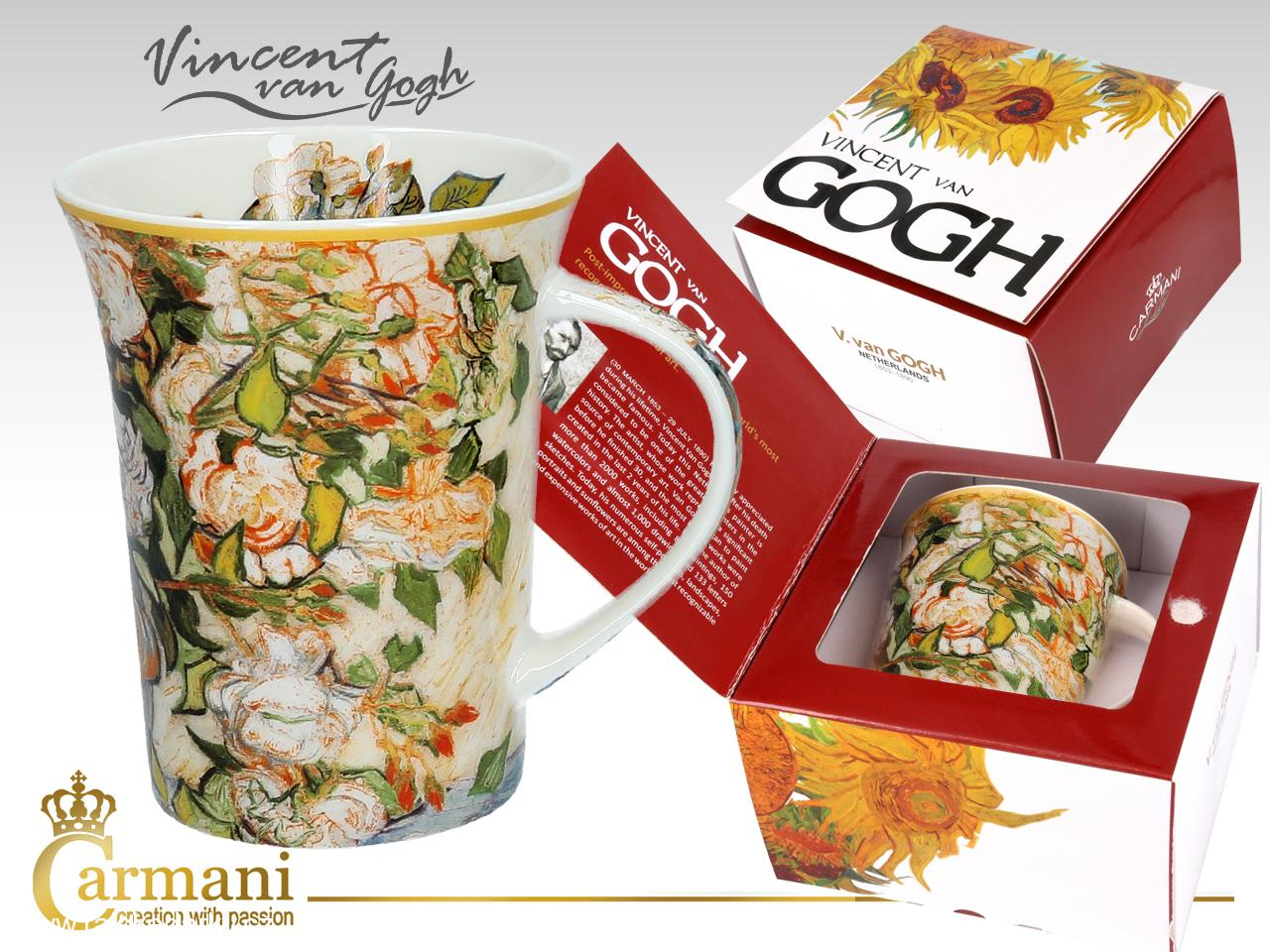 Hrnek 350 ml  Vincent van GOGH Roses, CARMANI