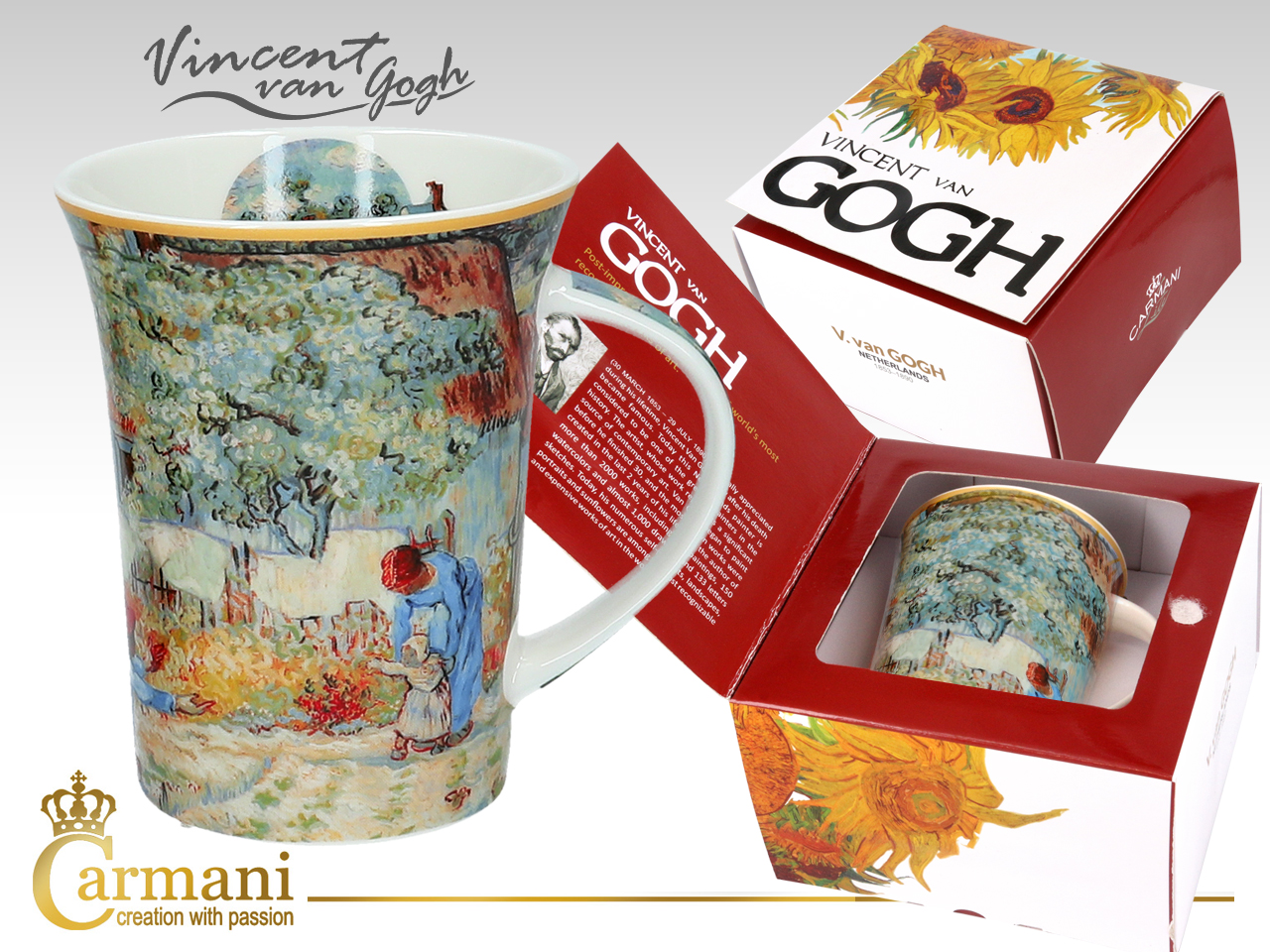 Hrnek 350 ml  Vincent van GOGH First Steps, CARMANI