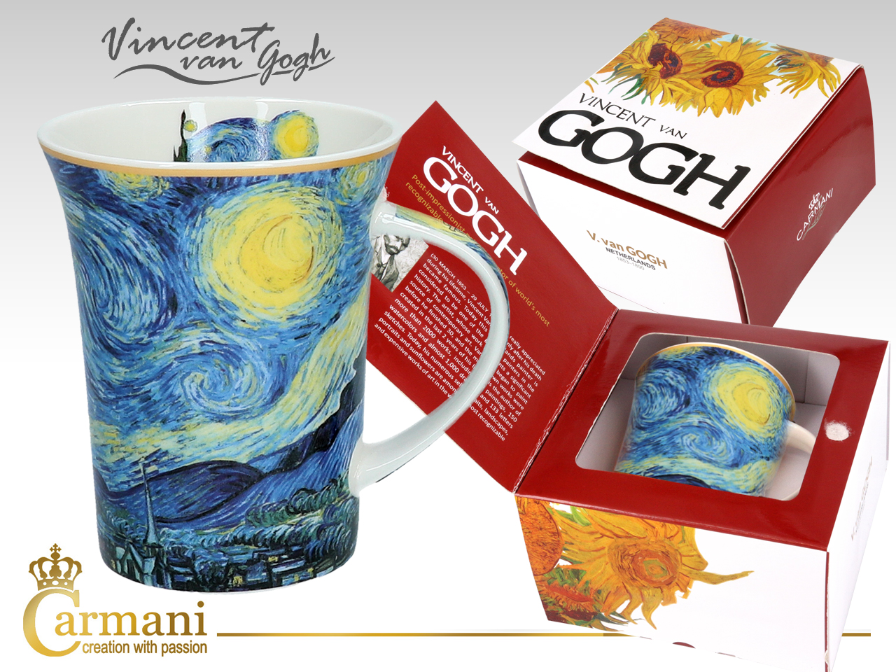 Hrnek 350 ml  Vincent van GOGH The Starry Night, CARMANI