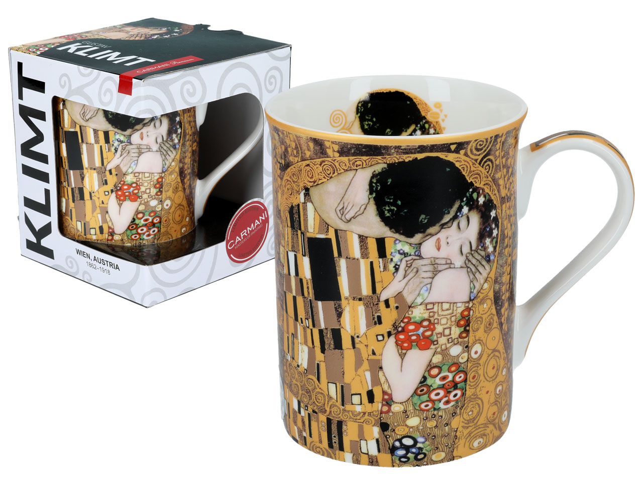 Hrnek  Gustav Klimt 400 ml The Kiss, CARMANI