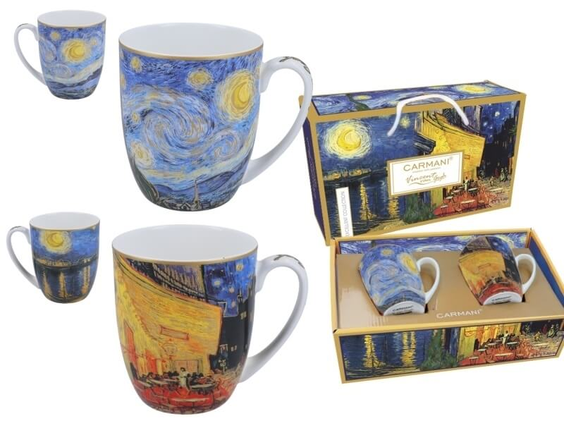 Hrnky 450 ml - set 2 ks Vincent van Gogh The Caffe Terrace + The  Starry Night, CARMANI