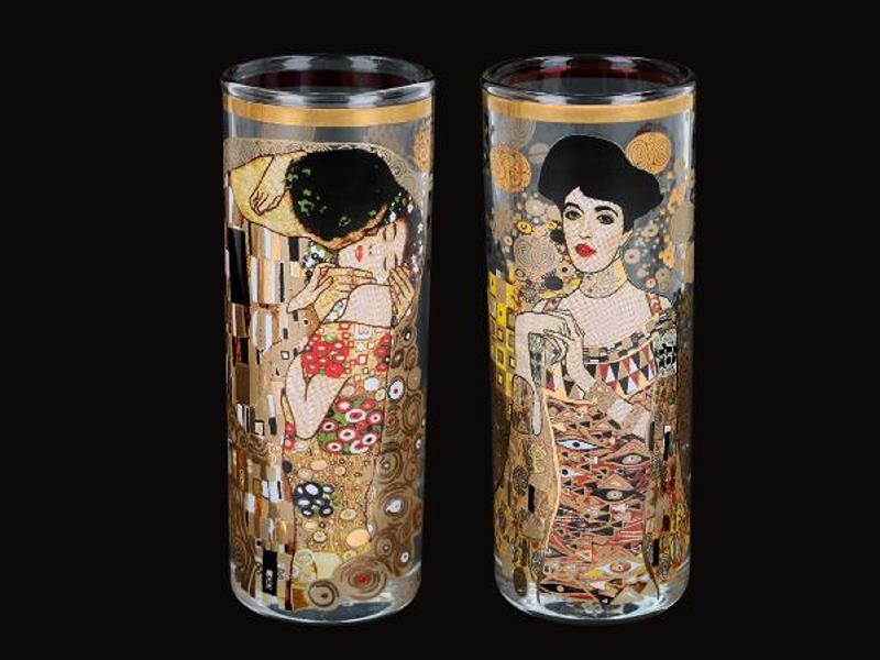 Skleněný panák 60 ml - set 2 ks Gustav Klimt The Kiss, CARMANI 8413121